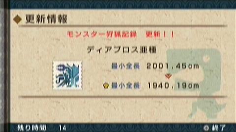 ディ亜最小金冠GET(80頭目)