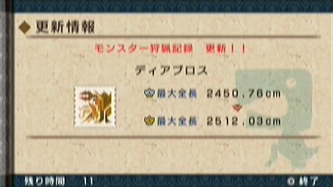 ディア原種最大金冠GET(59頭目)