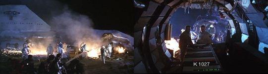 ス 墜落した宇宙船