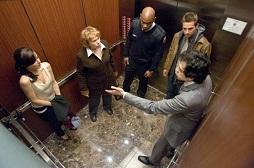 デ エレベーターの中