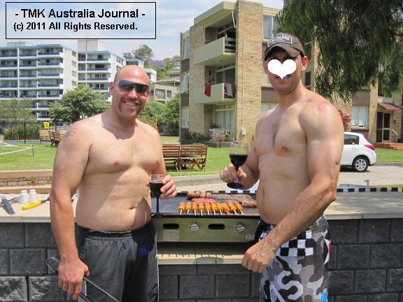 Dave and Potao BBQing