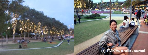 Tumbalong park付近