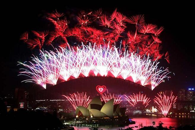 2012 シドニー湾の花火