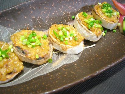 山芋のネギ味噌焼き1