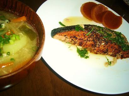 生鮭胡椒焼き