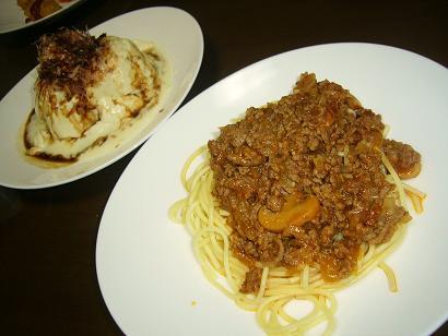 おぼろ豆腐とスパゲッチー