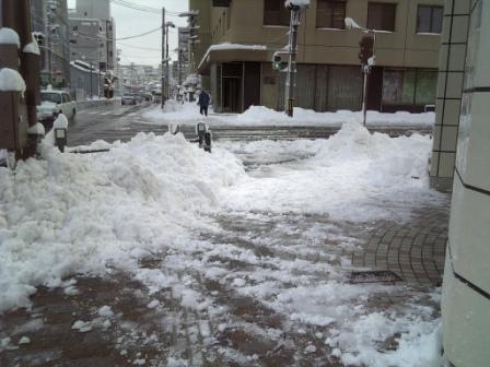 除雪しました