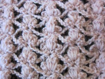 春色カーデ編みはじめ1