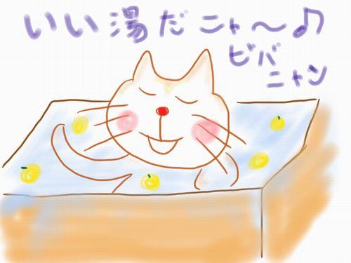 びばにゃんゆず湯冬至 (C)東京ノラ猫家猫カフェブログ