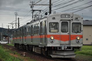 2011年8月19日 北陸鉄道石川線 井口~道法寺 7000系7102-7112