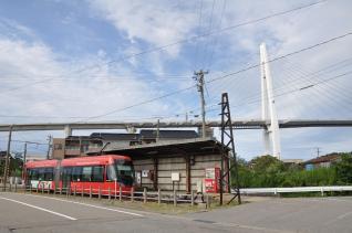 2011年8月19日 万葉線 越ノ潟 MLRV1000形 1004AB