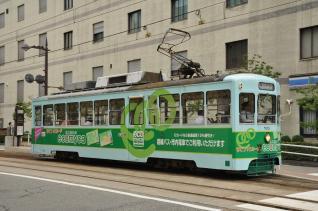 2011年8月20日 富山地方鉄道市内電車 電気ビル前 7000形7013号