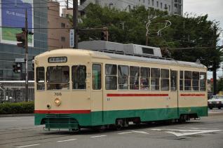 2011年8月20日 富山地方鉄道市内電車 新富町~富山駅前 7000形7015号車