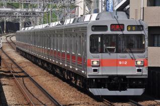 2011年8月30日 東急田園都市線 あざみ野 9000系9012F