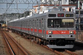 2011年8月30日 東急田園都市線 新丸子 9000系9012F