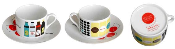 オーレ・エクセルのカップ&ソーサ