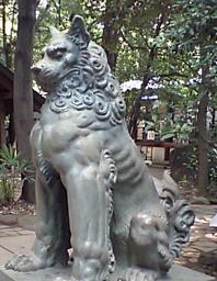 諏訪神社狛犬その1