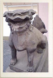 白金氷川神社の狛犬