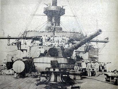 戦艦『三笠』後方砲台