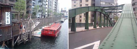 蔵前の舟屋と柳橋
