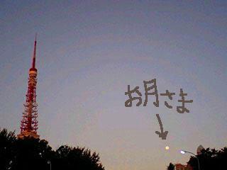 1016タワーと月