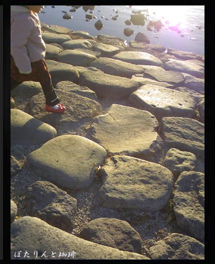 手賀沼の石積み
