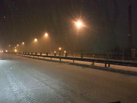 今シーズン初雪景色!