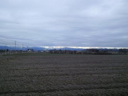 降雪前景色全景