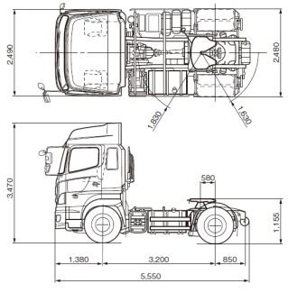 10tトラックの寸法