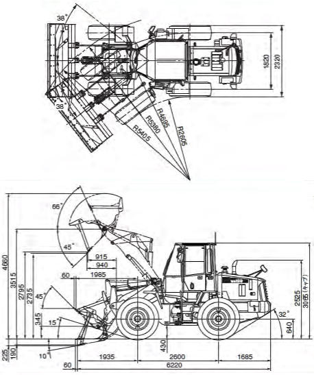 コマツ小型ホイルローダー(WA150-6)