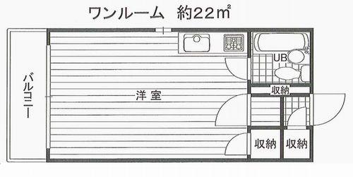 サクラシャト-東野田501平面図