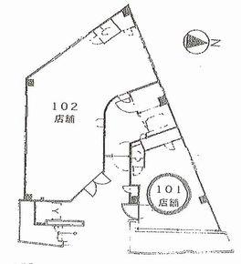 桜橋キタハチ 101平面図