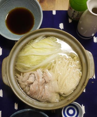 「深夜食堂」の白菜と豚バラの一人鍋