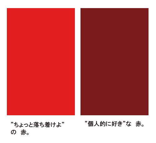 赤について