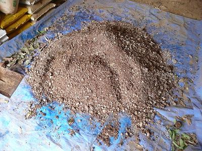 アンモニア臭を漂わせるボカシ肥料