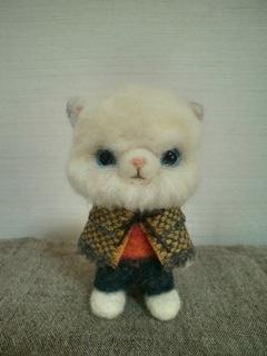 羊毛002 白い猫