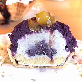 紫芋のモンブラン02@お菓子工房 PONY 2014年10月