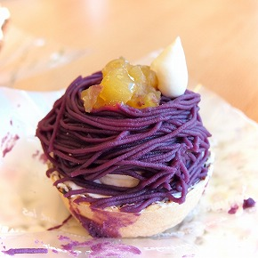 紫芋のモンブラン01@お菓子工房 PONY 2014年10月
