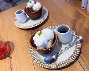 豆乳アイスのアッフォガード01@Cafe COCONOHA