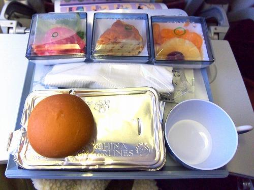 機内食01@China Airlines 2014年11月18日