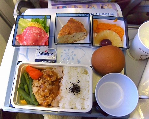 機内食02@China Airlines 2014年11月18日