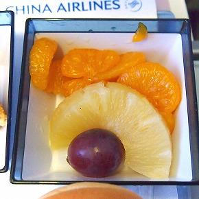 機内食06@China Airlines 2014年11月18日