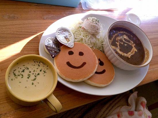 ビーフカレー単品+コーンスープ@PANCAKE DAYs 2014年12月
