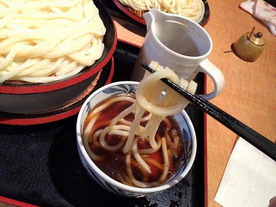 鶏きのこ汁うどん_メガ盛り03@自家製うどんの久兵衛屋 2014年12月