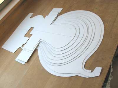 エレキベース型紙
