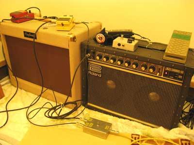ギターアンプ部屋
