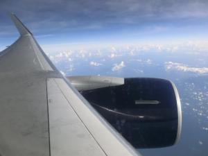 飛行機の座席からその2