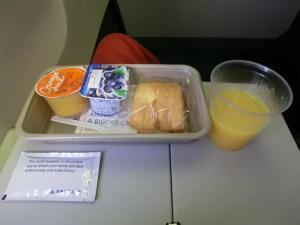 飛行機朝ご飯
