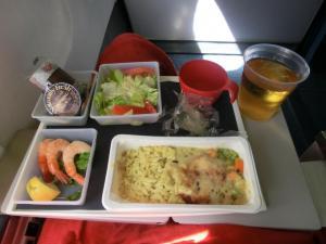 飛行機昼ご飯