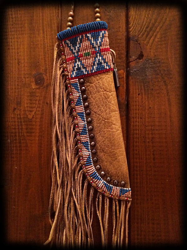 Beaded knife sheath 2